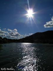 """""""Eis o sol no horizonte, Brilha a vida em nossa fronte, Concentremos um sentir, A nossa alma pede o amar...""""  (Canto de Paz) (KELLY DANTAS) Tags: sol cu deus aude gargalheiras"""