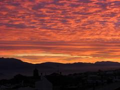 Atardecer de noviembre (Guervs) Tags: autumn sunset red espaa orange fall yellow clouds atardecer andaluca spain rojo silhouettes amarillo nubes otoo naranja siluetas jan beda