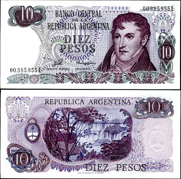 10 Pesos Argentína 1976, Pick 300