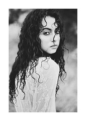(schaharazad) Tags: portrait white black girl dark hair model long curly