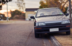 Old Faithful (Richfromthefuture) Tags: street sunset car bokeh dusk charade daihatsu g100