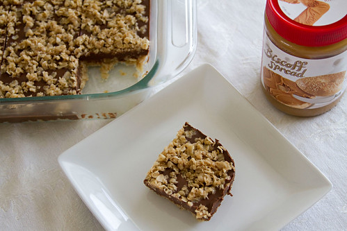 Chocolate Biscoff Oat Bars - 7