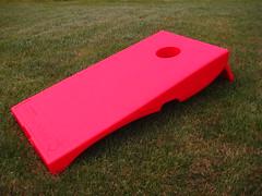 Red Plastic Cornhole Set