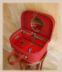 maleta sapatos detalhe (Nivia Peggion) Tags: shoes frasqueira