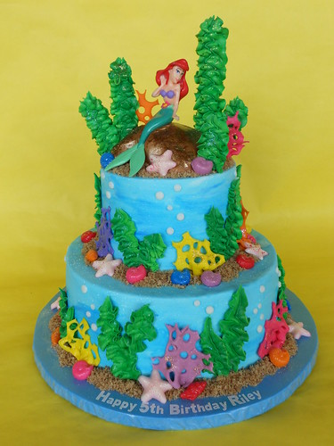Ariel Birthday Cake Designs