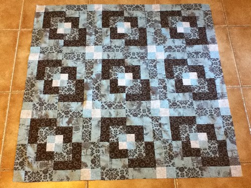 The Quilting Book Club- August- Modern V- Top Completed