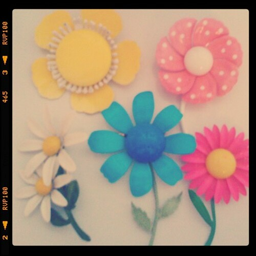vintage enamel broach collection