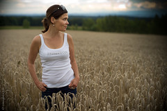 Summer Thunderstorm Approaching (consigliere_tom) Tags: leica summer portrait field corn thunderstorm noctilux annette m9 consiglieretom