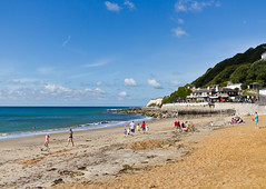 Ventnor Beach Glory Days #1 (s0ulsurfing) Tags: coast isleofwight places beach ventnor s0ulsurfing 2011 blue summertimeuk isle wight sigma1020 10mm wide wideangle sky skies cloud clouds composition vista blues england english scenery landscape landschaft picturesque canon uk britain british nephology meteorology nube bay coastal coastline sea water ocean seascape ventnorbay southwight pov perspective welcomeuk coastuk