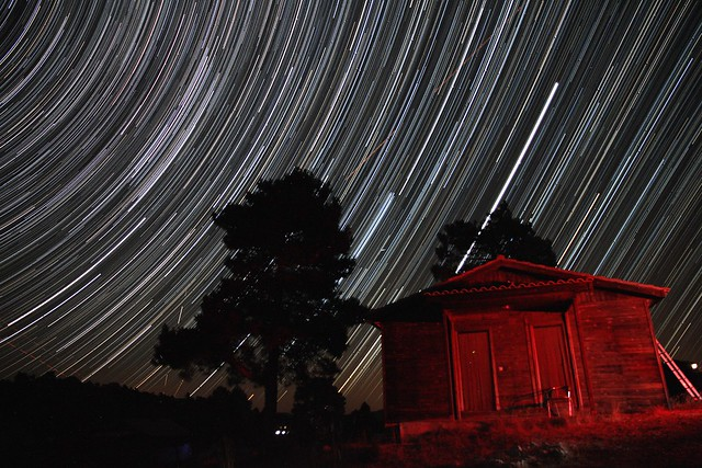 Star Trails 2 - Cottage and Stars