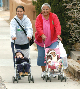 walking with baby strollers (by: Stephen Davis, courtesy of Transportation for America)