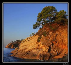 Santa Maria de Llorell (keltia17) Tags: sea costa mer beach creek mar spain mediterraneo espana shore catalunya cote espagne plage costabrava cala tossademar catalogne mediterrannee crique palya catolonia