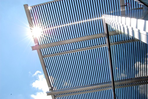 The solar array overhang