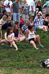 Spectators look on in envy ... (lens buddy) Tags: uk sport canon fun glamour somerset rafting spectators mudwrestling fancydress prettygirls tugofwar muchelney langport thorney eos50d rafti lowlandgames eos7d sydenhamcameraclub crazyrafting wifemudrace mudlovers dirtywives