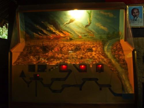 Maqueta de los túneles
