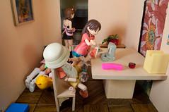 Aftermath (PoppetCloset) Tags: mess chaos room setup dollhouse ena yotsuba fraulein revoltech kawaiinosenshi