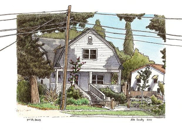 1st st house, davis