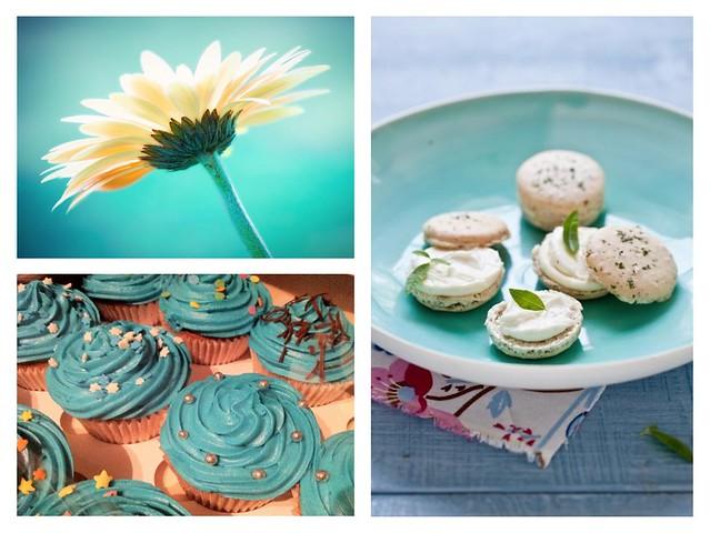blue hue dessert