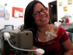 Meu cantinho predileto do ateliê... (Joana Joaninha) Tags: love amor belohorizonte ateliê laço joanajoaninha mariacor hellennilce