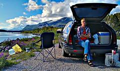 Coffe Break (Wiking66) Tags: road camera sea sky cloud ford water car nationalpark break smartphone mobilephone taurus coffe hdr app htc stora sjfallet