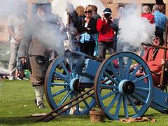 P1011673_E620 (Paul Wynn Photography) Tags: smoke cannon fancydress blackwatch fortgeorge blackpowder gunfire wadding