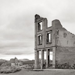 Rhyolite, Nevada (austin granger) Tags: abandoned square ruins desert nevada bank ghosttown deathvalley rhyolite largeformat austingranger