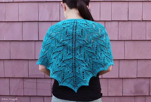 Retro Heaven Shawlette - Shoulders