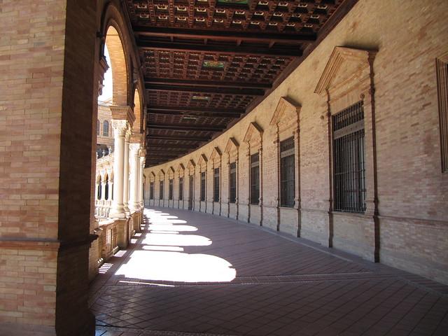 Plaza de Espana Seville corridor