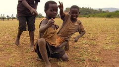 Rwanda - Kids (SoccerFilmRwanda) Tags: africa street red people game film sport kids movie football video village stadium soccer poor documentary rwanda kungfu dust filmmaking r