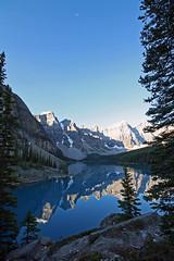 21/365 Moraine Lake (hey ~ it's me lea) Tags: park blue sky canada mountains sunrise reflections national banff moraine morainelake