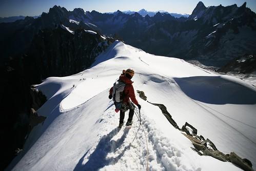 East ridge of the Aiguille du Midi