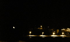 Total Darkness... (Sofia Vitori) Tags: sea summer moon black port dark lights crescent greece karpathos 2011     ilobsterit