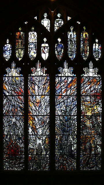Millennium window Malvern Priory contemporary stained glass