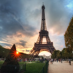 Sunset at The Eiffel Tower