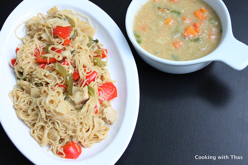 Day 234 - Lentil Soup and Chicken Chow Mein