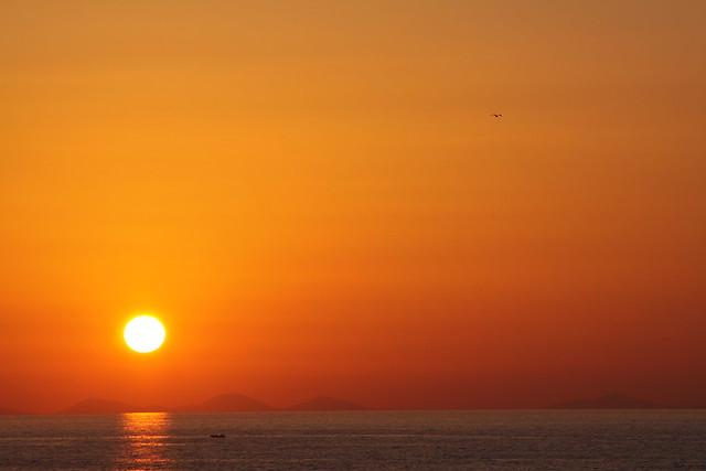 Sunset in Castelsardo, Sardinia...