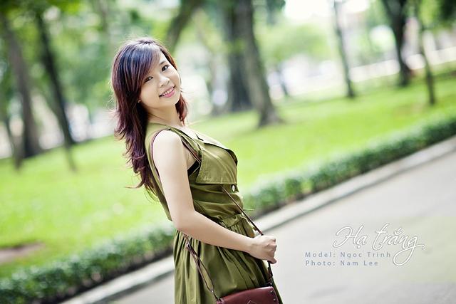 chụp hình chân dung - model Ngọc Trinh