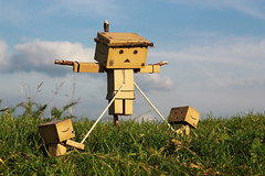 Crucified Danbo (Jody Walmsley) Tags: easter fun toy cross religion jesus christian jew jewish christianity crucify danbo revoltech danboard