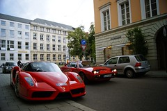 Red horses (2KP) Tags: red cars car germany munich mnchen deutschland ferrari voiture enzo rosso supercar voitures gt4 corsa combo 308 2011