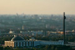 Museum (Serge Freeman) Tags: city monument museum architecture photoshop evening cityscape russia moscow aerial