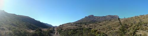 Panorama na estrada na parte alta do Parque Nacional de Itatiaia