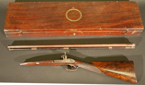 An early 19th century shotgun by the renowned gunsmith James Purdy