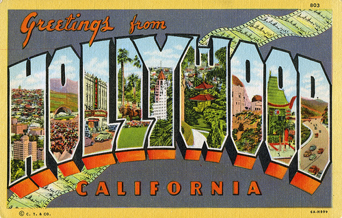 POSTCARD Hollywood