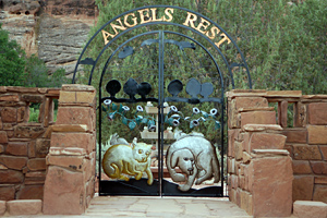 The entrance to Angels Rest at Best Friends Animal Sanctuary