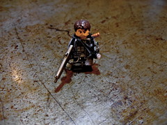 Rusty~ ((Iris)) Tags: iris rust lego shell harry potter rusty trenchcoat chef decal blade shotgun mag orrange filch aa12 brickarms apocalego brickarm kipara