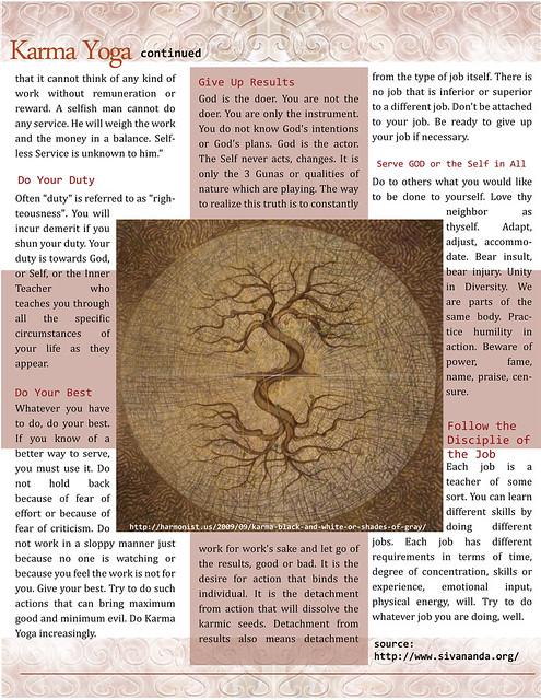 OM Times-SACREDspace : Sept. 2011 : Karma Yoga (pg2)