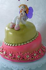 Funky fairy topsy turvy cake (Scrummy Mummy's Cakes) Tags: fairy topsyturvy funkyfairytopsyturvycake