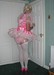 rear view sissy dress (nancyball1) Tags: panties transvestite crossdresser frilly minidress