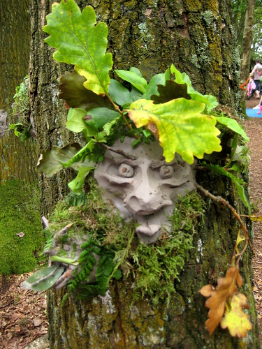 just so festival green man art