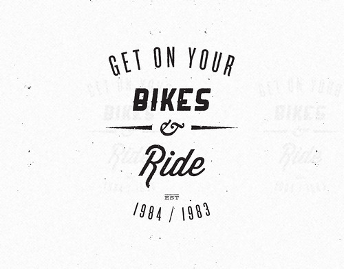 ride bike logo white